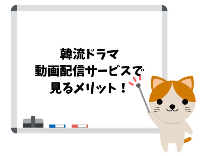 韓流ドラマを動画配信サービスで見るメリット!